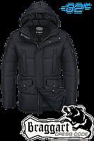 Куртка зимняя мужская на меху Braggart Dress Code - 2160C черная