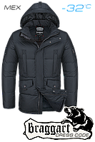 Куртка зимняя мужская на меху Braggart Dress Code - 2160A графит