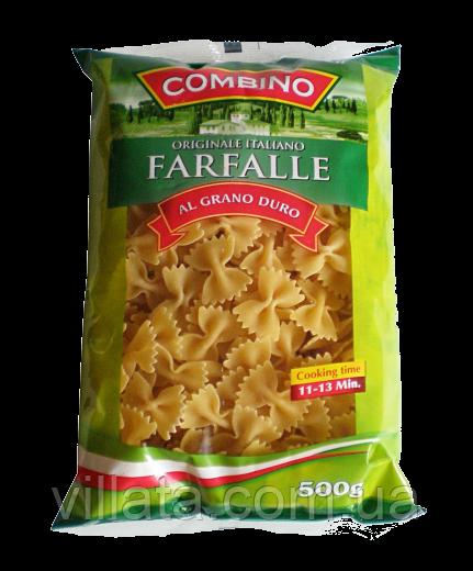 """Макароны """"Бантики""""  из твердых сортов пшеницы Combino 0,5kg"""