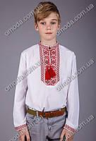 Вышиванка для мальчика с красной вышивкой Козак
