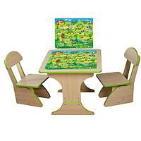 Столики детские для игры + 2 стула растущие