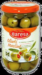 Оливки с болгарским перчиком Baresa 330 ml