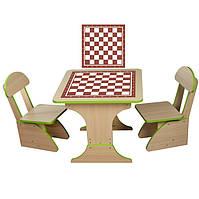 Столик и 2 стула для игры в шахматы