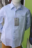 Рубашка школа для мальчика голубого цвета Турция