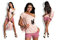 Женская футболка с гипюровым карманом