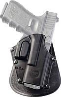 Кобура Fobus для Glock 17,19 с креплением на ремень, замок на скобе ц:black