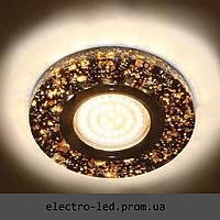 Встраиваемый декоративный светодиодный светильник Feron 8585-2 чёрный LED подсветкой
