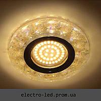 Встраиваемый декоративный светодиодный светильник Feron 8585-2 жёлтый LED подсветкой