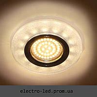 Встраиваемый декоративный светодиодный светильник Feron 8989-2 белый серебро LED подсветкой