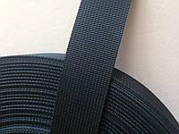 Репсовая ременная лента, ширина - 30 мм,  цвет - чёрный, артикул СКУ 9018