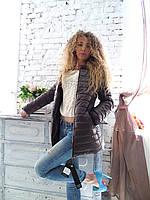 Модная куртка пальто весна осень с воротником из натуральной норки