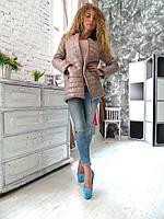 Женская модная куртка новая пальто с мехом 46 48 L