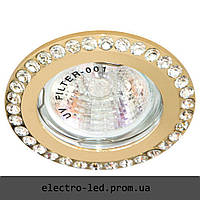 Встраиваемый светильник декоративными камнями Feron DL100-C MR16 G5.3 (золото)