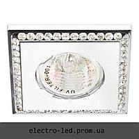 Встраиваемый светильник декоративными камнями Feron DL102-C MR16 G5.3 (белый)