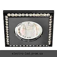 Встраиваемый светильник декоративными камнями Feron DL102-C MR16 G5.3 (черный)