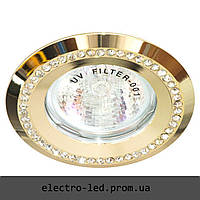 Встраиваемый светильник декоративными камнями Feron DL103-C MR16 G5.3 (золото)