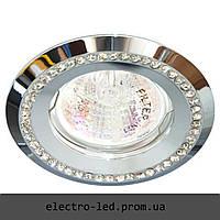 Встраиваемый светильник декоративными камнями Feron DL103-C MR16 G5.3 (хром)