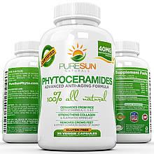 Фитокерамиды Pure Sun Naturals антивозрастной  препарат для разглаживания морщин и кожи. Сделано в США.