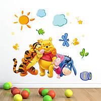 Наклейка виниловая Винни Пух и друзья 3D декор