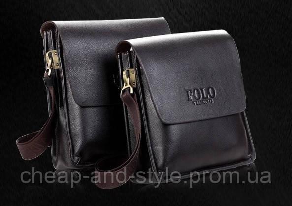 8412f2b1e249 Мужская стильная кожаная сумка POLO (большая). Сумка-планшетка - сумка  через плечо