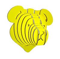 Настенный декор голова медведя 40*40*22,5  ( разные цвета )