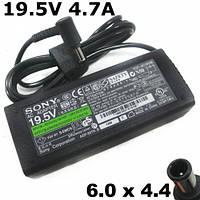 Зарядка для ноутбука Sony Vaio, 19.5V, 4.7A, 92W, штекер размером 6.0*4.4 mm с иглой внутри