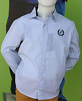 Рубашка для мальчика школа мелкий рисунок 122 см Турция