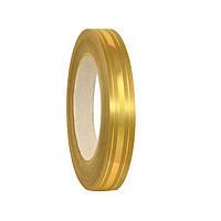Лента полипропиленовая подарочная Золотая с золотистой полоской 2 см 45 м/рулон