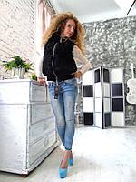 Стильная жилетка безрукавка из каракуля 44 46 размера
