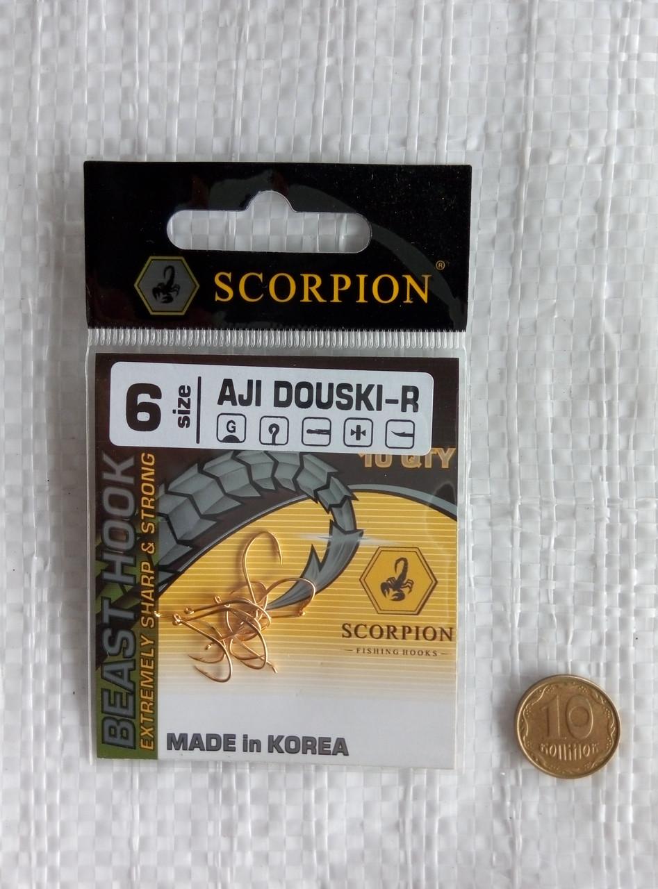 Крючки Scorpion Aji Douski-R №6