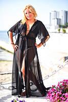 Накидка женская пляжная большие размеры (цвета) А8041 длинная
