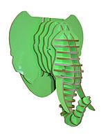 Настенный декор голова слона  38,5*45*32,5  ( разные цвета )