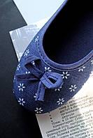 Балетки женские синие