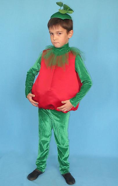 Помидор (ка). Детский карнавальный костюм.