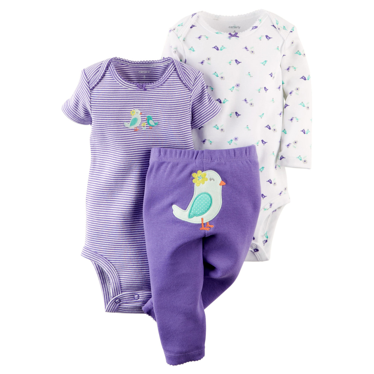 Комплект для девочки 6-9-12 мес. Bird appliqué Carter's (США)