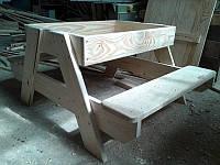 Песочница-стол деревянная
