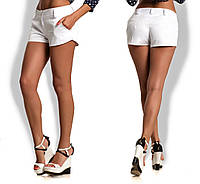 Женские белые  шорты с карманами