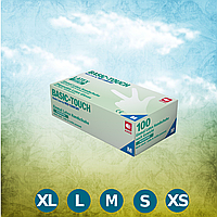 Перчатки латексные без пудры Basic-Touch (размер XS) 100 шт. в уп., AMPri