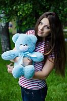 Мишка Монти 55 см, плюшевые медведи.мягкая игрушка голубой