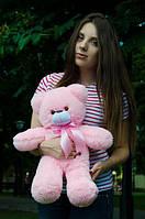 Мишка Монти 55 см, плюшевые медведи.мягкая игрушка Розовый