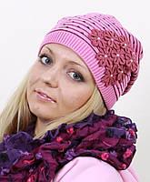 Женская шапка с подкладкой на флисе
