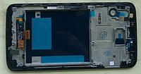 LG G2 D800 D801 D803 дисплей в зборі з тачскріном модуль з рамкою чорний