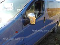 Накладки на зеркала Renault traffic (Рено трафик), ABS. Carmos