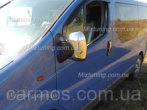 Накладки на зеркала Renault trafic (Рено трафик), ABS. Carmos