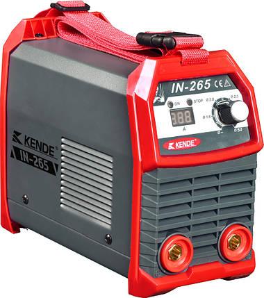 Сварочный аппарат инвертор KENDE IN-265 Электродная сварка  для эпизодичных сварочных работ в режиме ММА, фото 2
