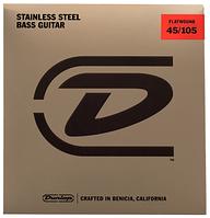 Струны для бас-гитары DUNLOP DBFS45105 STAINLESS STEEL FLATWOUND BASS 45-105 (33662)