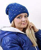 Женская шапка с широкой резинкой