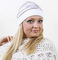 Модная женская шапка с цветком