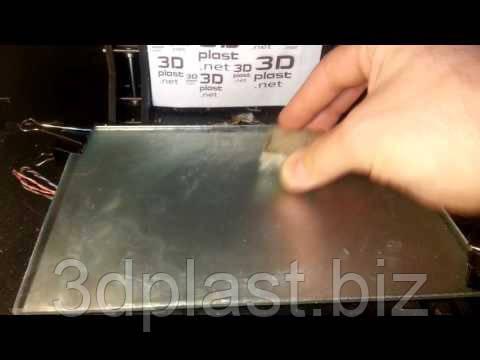 Матовое стекло для нагреваемой платформы 3D принтера