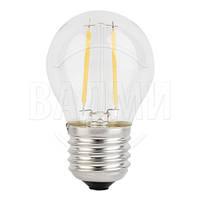 Светодиодная лампа FILAMENT 100204, G45, Е27, 2 Вт, АС 220 В, цвет белый нейтр., Ledex